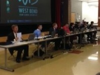 The school board meets in the Badger Middle School cafeteria on Sept. 22.