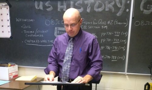 Michael Kieser, East social studies teacher, opposes the combination of East and West.