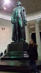 Libby Willkomm at the Jefferson Memorial.