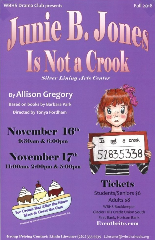 Junie B. Jones play flier